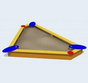 Leuke driehoek zandbak