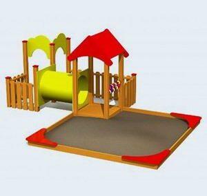 Zandbak met speelcombi LMK003