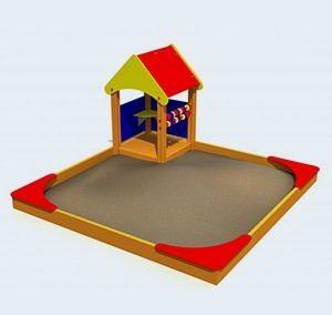 Zandbak met speelhuisje LMK001